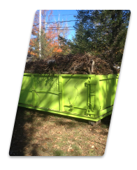 giant dumpster full of sticks and branches