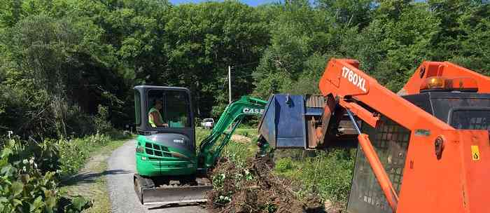 Heavy Equipment Pushing Dirt at a job site