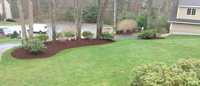 Well Manicured Yard, Mulched Flower Beds