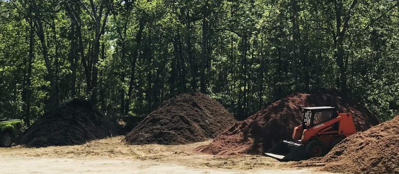 mulch stockpiles